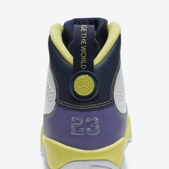 """ナイキ エア ジョーダン 9 ウィメンズ """"チェンジ ザ ワールド"""" Nike-Air-Jordan-9-Change-The-World-Cactus-Flower-CV0420-100-heel-2"""