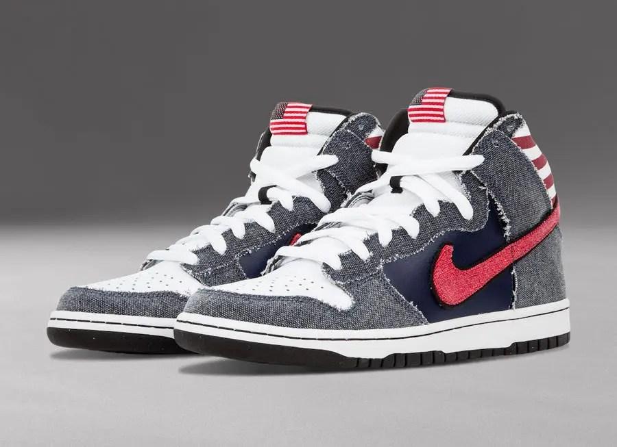 """ナイキ SB ダンク ハイ """"ボーン イン the USA"""" Nike-SB-Dunk-High-Born-in-the-USA-313171-100-main"""