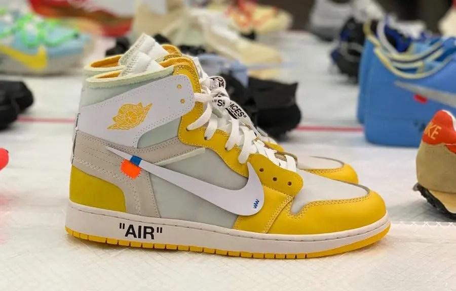 """オフホワイト x ナイキ エア ジョーダン 1 """"カナリア イエロー"""" Off-White-Nike-Air-Jordan-1-Canary-Yellow-side-main"""
