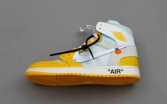 """オフホワイト x ナイキ エア ジョーダン 1 """"カナリア イエロー"""" Off-White-Nike-Air-Jordan-1-Canary-Yellow-side"""