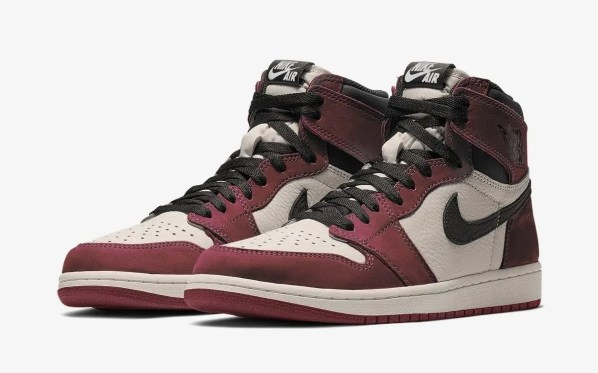 """ナイキ エア ジョーダン 1 ハイ OG """"バーガンディー クラッシュ"""" Nike-Air-Jordan-1-Burgundy-Crush-pair"""