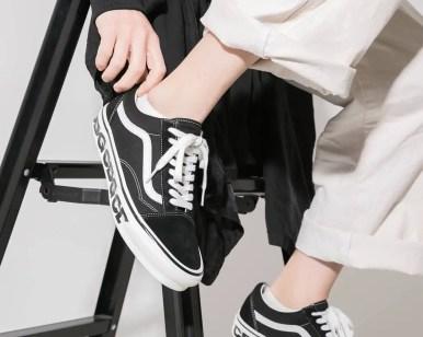 コム・デ・ギャルソン シーディージー バンズ ヴァンズ オールドスクール CDG-x-Vans-Old-Skool wearing