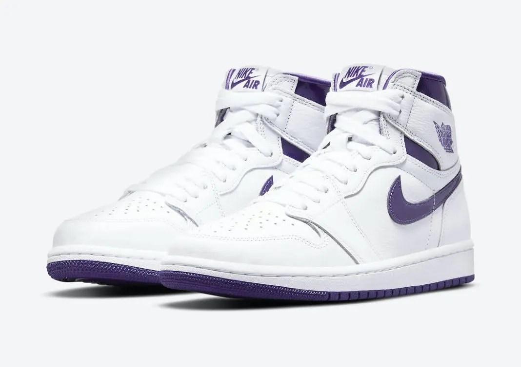 """ナイキ ウィメンズ エア ジョーダン 1 ハイ """"コート パープル"""" Nike-Air-Jordan-1-Court-Purple-Womens-CD0461-151-pair"""