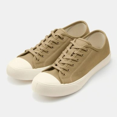 GU ジーユー クリーン キャンバス スニーカー ベージュ Clean-Canvas-Sneaker-Beige