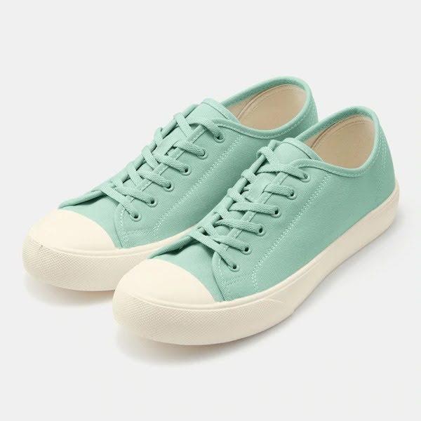 GU ジーユー クリーン キャンバス スニーカー ライト グリーン Clean-Canvas-Sneaker-light green