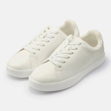GU ジーユー ライト ソール レザー タッチ スニーカー ホワイト Light-Sole-Leather-Touch-Sneaker-E-Off-White