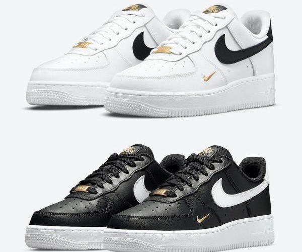 """ナイキ エア フォース 1 ロー """"ゴールド ミニ スウッシュ"""" 全2色 Nike-Air-Force-1-Low-Gold-Mini-Swoosh-eyecatch"""