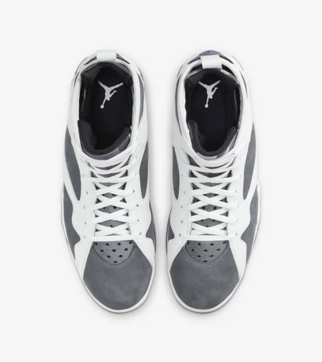 "Nike Air Jordan 7 ""Flint"" ナイキ エア ジョーダン 7 ""フリント"" 色:White/ Flint Grey-Black-Varsity Purple CU9307-100 main"