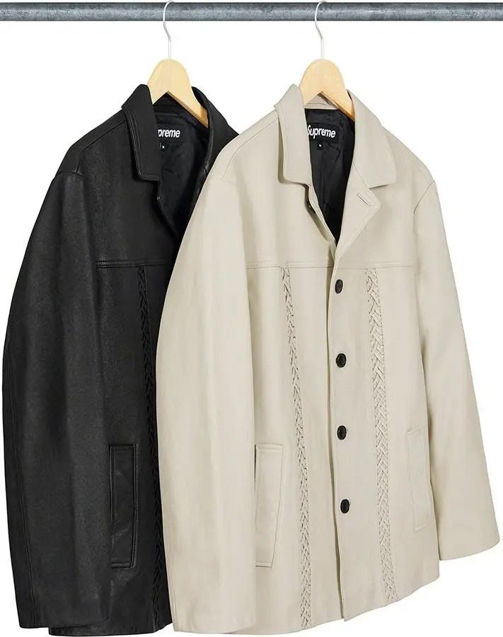 シュプリーム 2021年 春夏 新作 ジャケット Supreme 2021ss jacket 一覧 braided-leather-overcoat