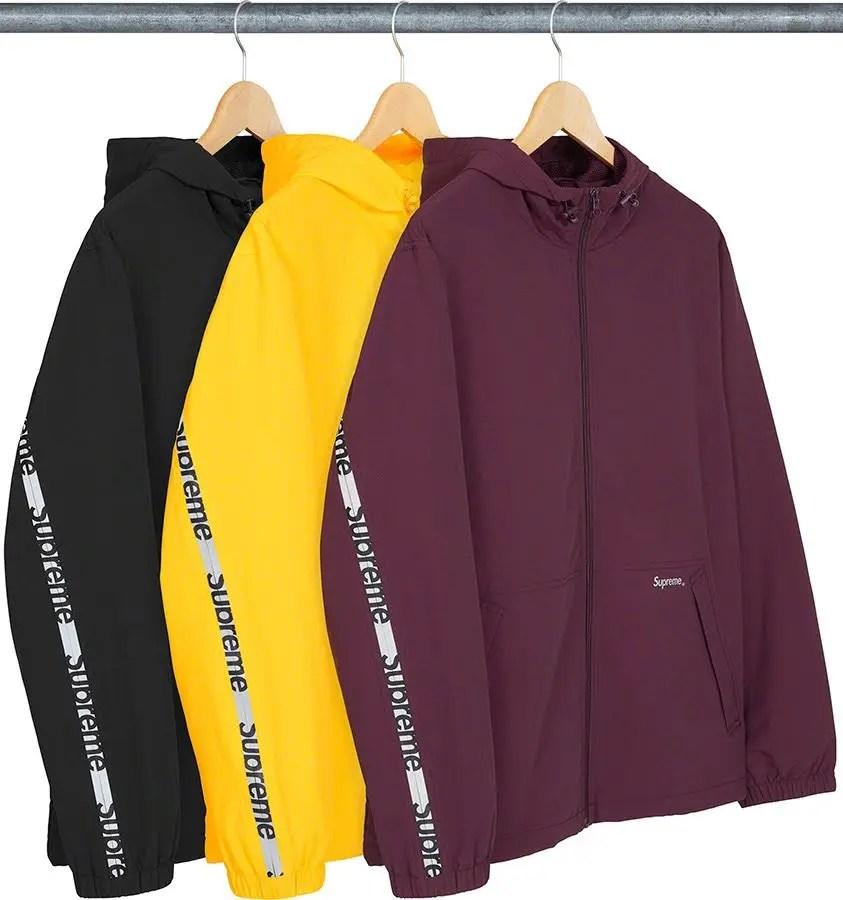 シュプリーム 2021年 春夏 新作 ジャケット Supreme 2021ss jacket 一覧 reflective-zip-hooded-jacket-front