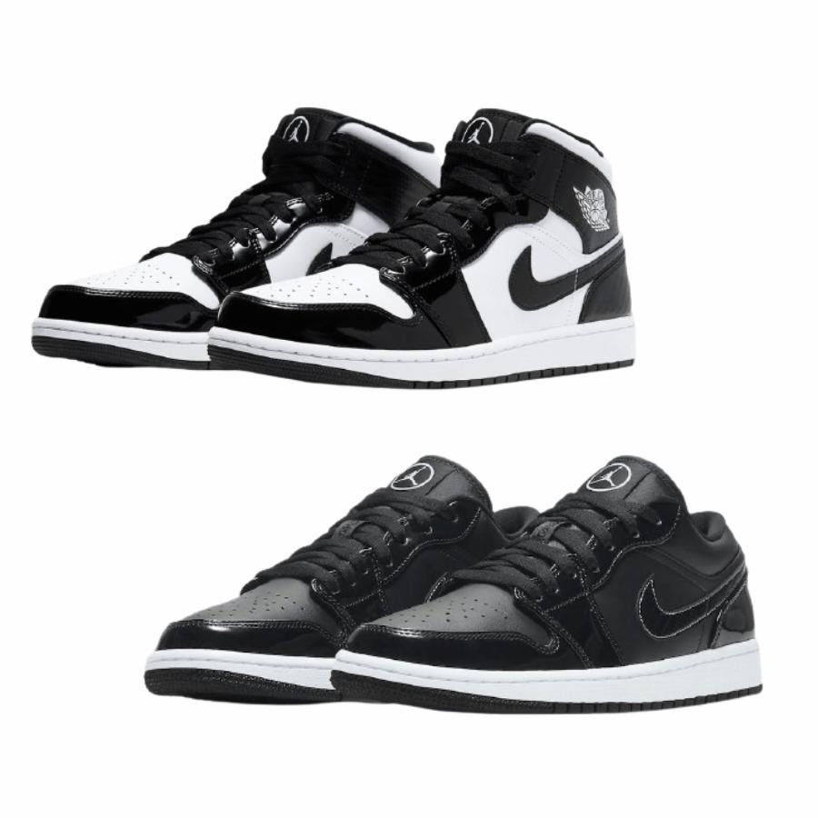 "Nike Air Jordan 1 Low ""All-Star"" ナイキ エア ジョーダン 1 ロー ""オールスター"" Black/ White DD1650-001 Nike Air Jordan 1 Mid ""All-Star"" ナイキ エア ジョーダン 1 ミッド ""オールスター"" Black/ White DD1649-001"
