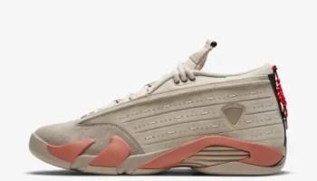 """クロット × ナイキ エア ジョーダン 14 ロー """"テラコッタ"""" clot-x-nike-air-jordan-14-low-terracotta-dc9857-200-side"""