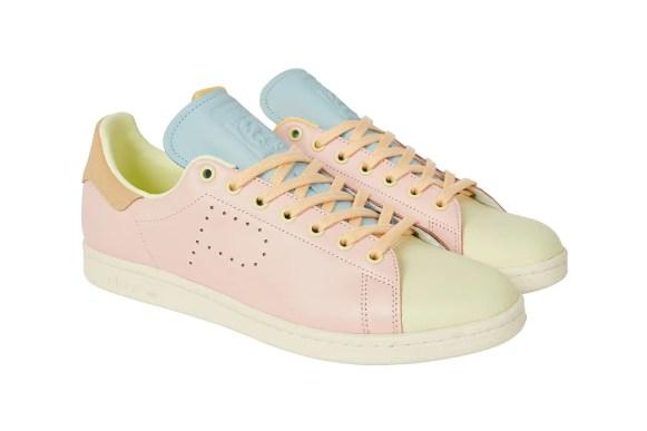 """パレス スケートボード × アディダス オリジナルス スタンスミス """"ハーゼ イエロー/ アイスピンク-アイスブルー"""" Palace-Skateboards-adidas-Originals-Stan-Smith-Hase-Yellow-Ice-Pink-Ice-Blue-pair-side-front"""