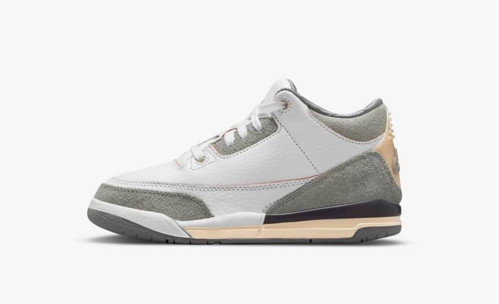 ア マ マニエール × ナイキ エア ジョーダン 3 A-Ma-Maniere-Nike-Air-Jordan-3-DH3434-110-pair kids