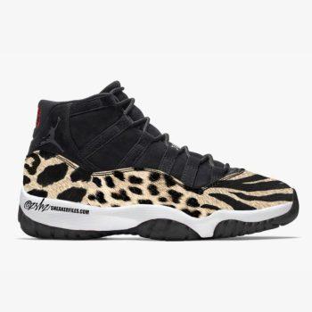 """Air Jordan 11 """"Animal"""" ナイキ エアジョーダン 11 """"アニマル"""" Black/Red-Sail-White AR0715-010"""