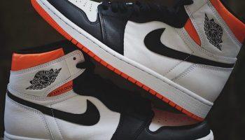 """ナイキ エア ジョーダン 1 ハイ OG """"エレクトロ オレンジ"""" Nike-Air-Jordan-1-Electro-Orange-555088-180-pair detail"""