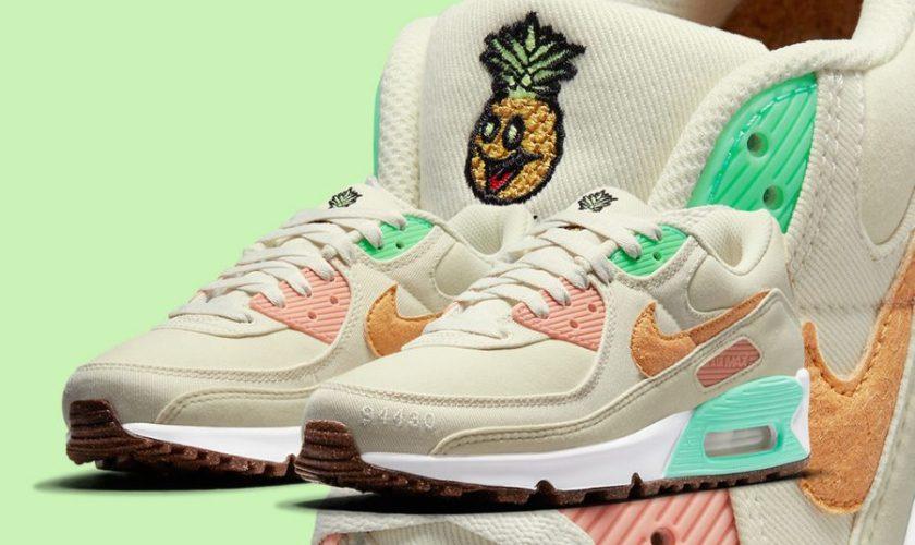"""Nike Air Max 90 """"Happy Pineapple"""" ナイキ エアマックス90 ハッピー パイナップル DC5211-100 main"""