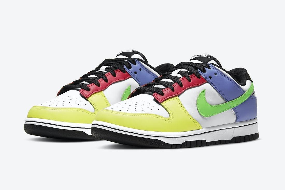 """ナイキ ウィメンズ ダンク ロー """"マルチカラー"""" Nike-Dunk-Low-Multi-Color-DD1503-106-pair"""