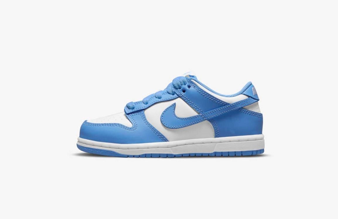 """ナイキ ダンク ロー """"ユニバーシティ ブルー"""" Nike-Dunk-Low-University-Blue-DD1391-102 Junior"""