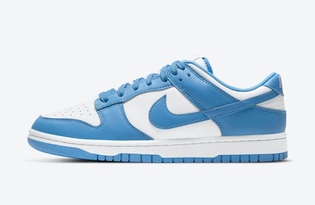 """ナイキ ダンク ロー """"ユニバーシティ ブルー"""" Nike-Dunk-Low-University-Blue-DD1391-102 side left"""