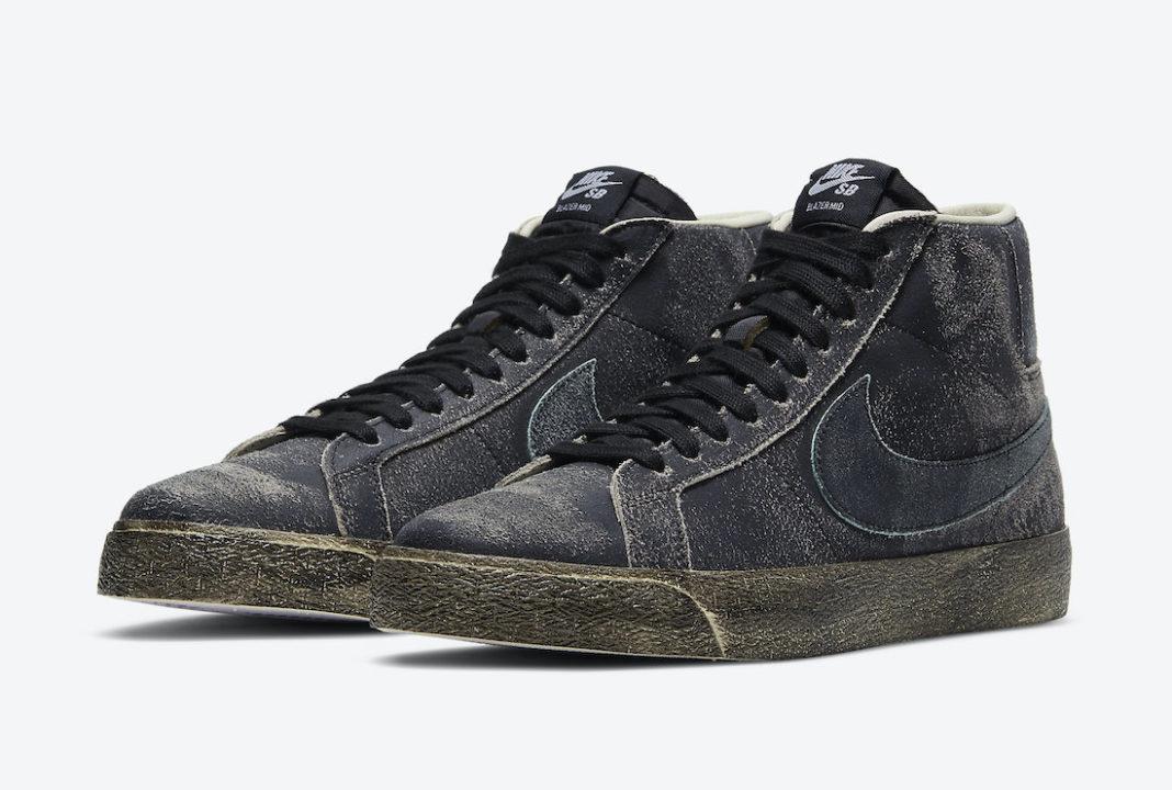 """ナイキ SB ブレーザー ミッド """"フェイディッド ブラック"""" Nike-SB-Blazer-Mid-Faded-Black-DA1839-001-pair"""