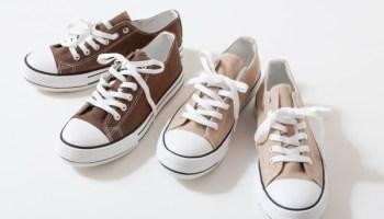しまむら プチプラ スニーカー レディース おすすめ 人気 shimamura canvas sneakers beige brown