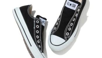コンバース オールスター スリップ 紐なし スニーカー Converse All Star Slip OX Black White
