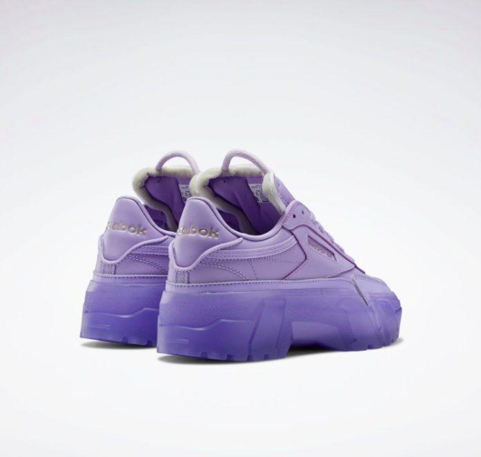 """リーボック × カーディビー """"クラブ シー カーディ"""" / クリスプパープル Reebok-Cardi-B-Club-C-Cardi-Crisp-purple-GX7632-pair-back"""
