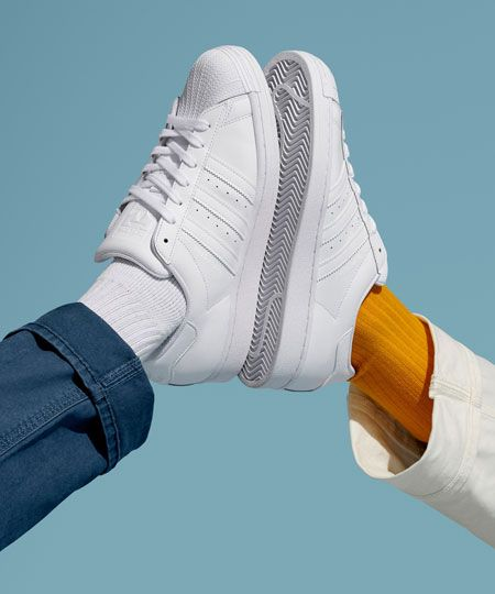 カップル スニーカー ペア アディダス 白 adidas pair sneakers for couple white color
