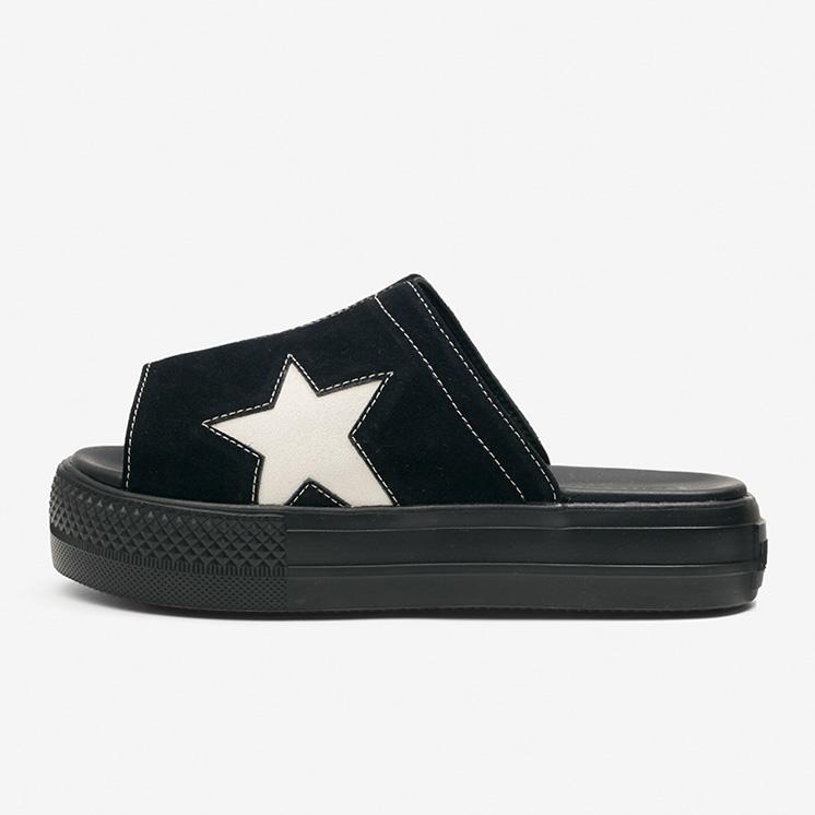 コンバース CV サンダル PLTS スウェード (ブラック) converse-cv-sandal-plts-suede-black-35500260-side