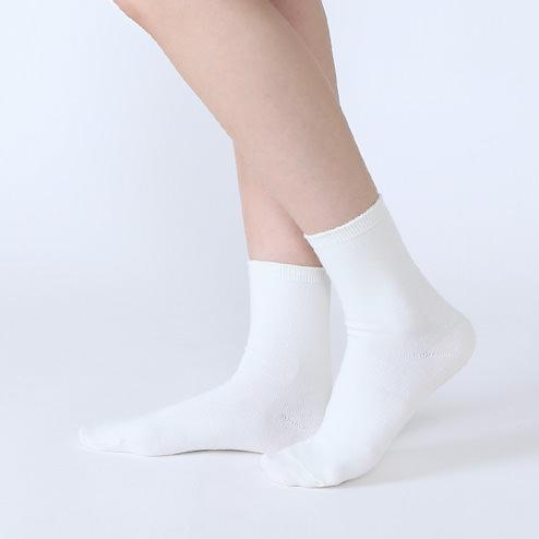 コットンブレンド 無地ソックス sandal-socks-style-idea-cotton-blend-mono