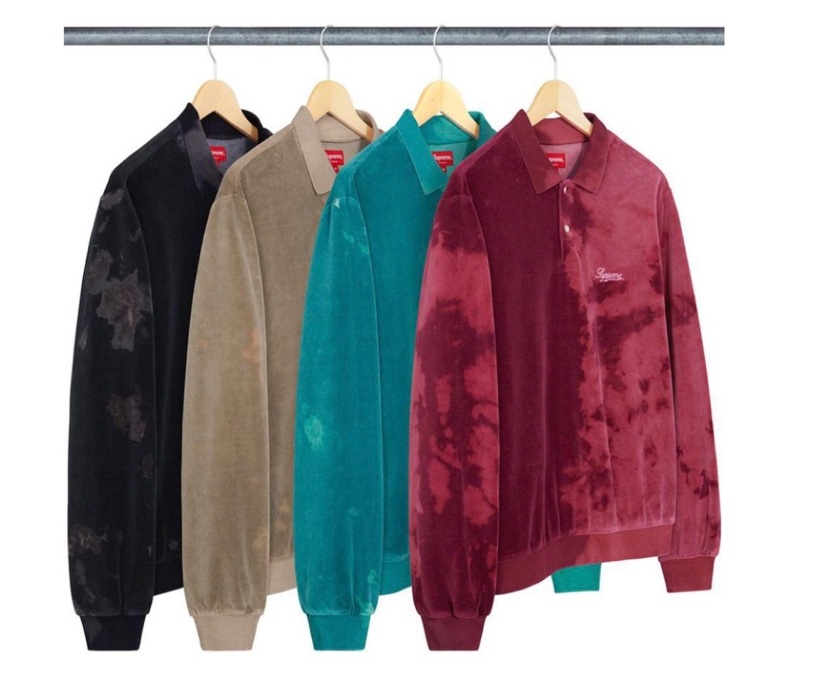 supreme 2021ss シュプリーム 2021春夏 week7 Bleached Velour L/S Polo