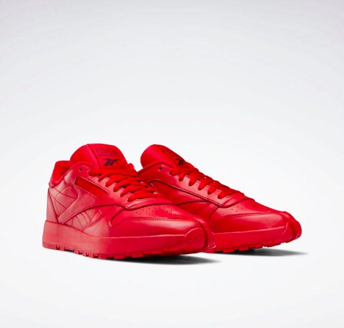 メゾン マルジェラ × リーボック クラシック レザー タビ レッド Maison-Margiela-Reebok-Classic-Leather-Tabi-Red-H04866-pair