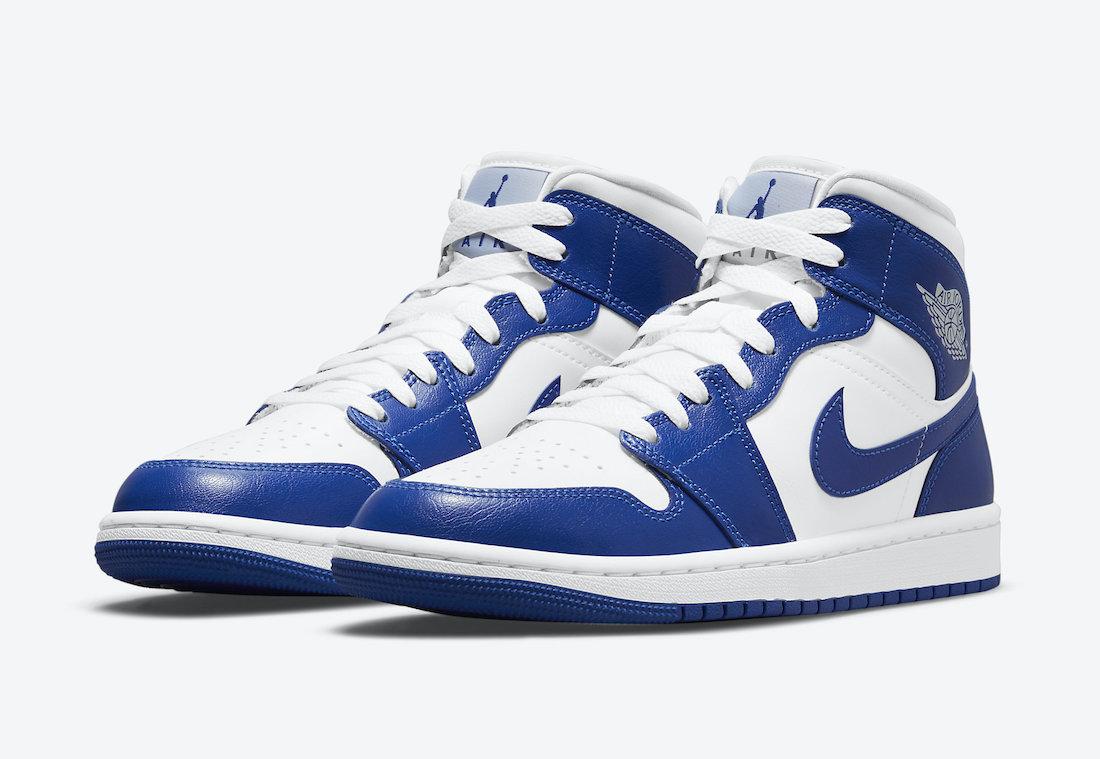 """ナイキ ウィメンズ エア ジョーダン 1 ミッド """"ケンタッキー ブルー"""" Nike-WMNS-Air-Jordan-1-Mid-Kentucky-Blue-BQ6472-104-pair"""