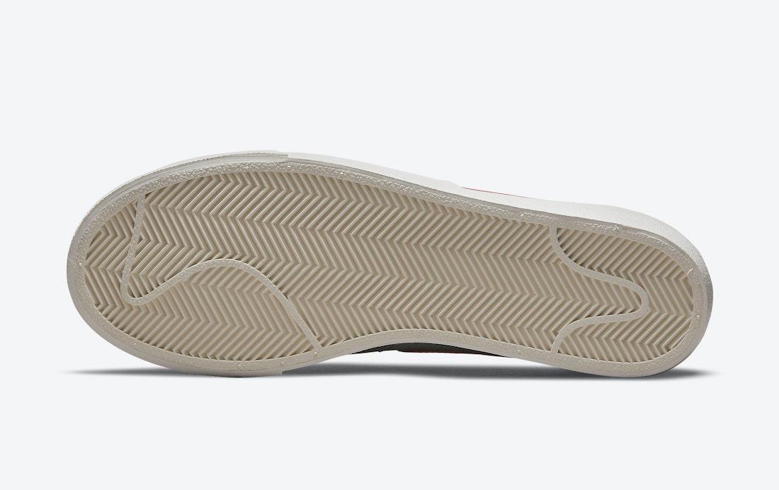 ナイキ ウィメンズ ブレーザー ロー プラットフォーム (シーフォーム) Nike-wmns-Blazer-Low-Platform-Seafoam-DM9464-001-sole