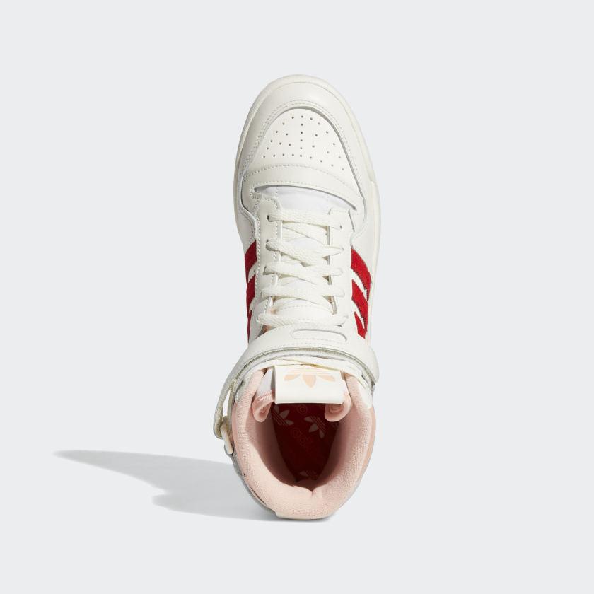 アディダス フォーラム 84 ハイ / ピンク グロー & ビビッド レッド adidas_Forum_84_Hi_pink_red_H01670_top