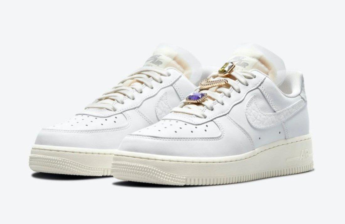 """ナイキ ウィメンズ エア フォース 1 """"ブリング"""" Nike-Air-Force-1-Low-Bling-DN5463-100-pair"""