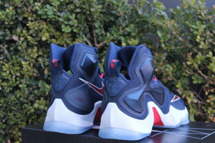 Nike LeBron 13 USA Navy Red White