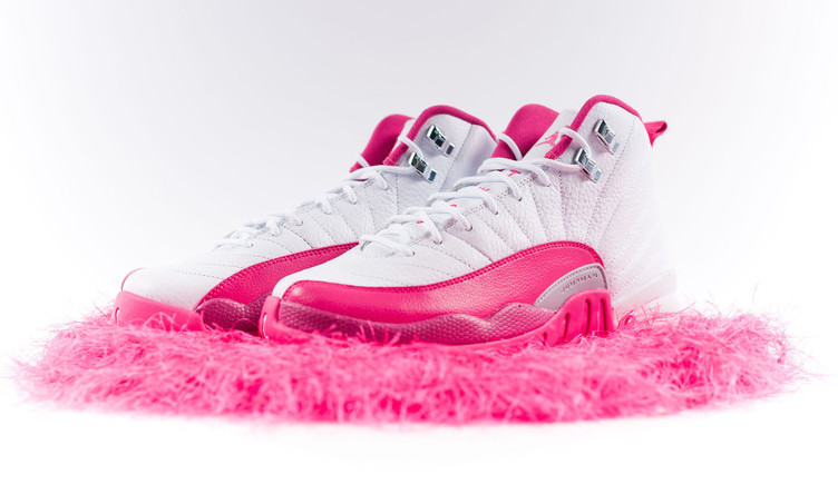 Air Jordan 12 GS White Dynamic Pink Release Date Sneaker
