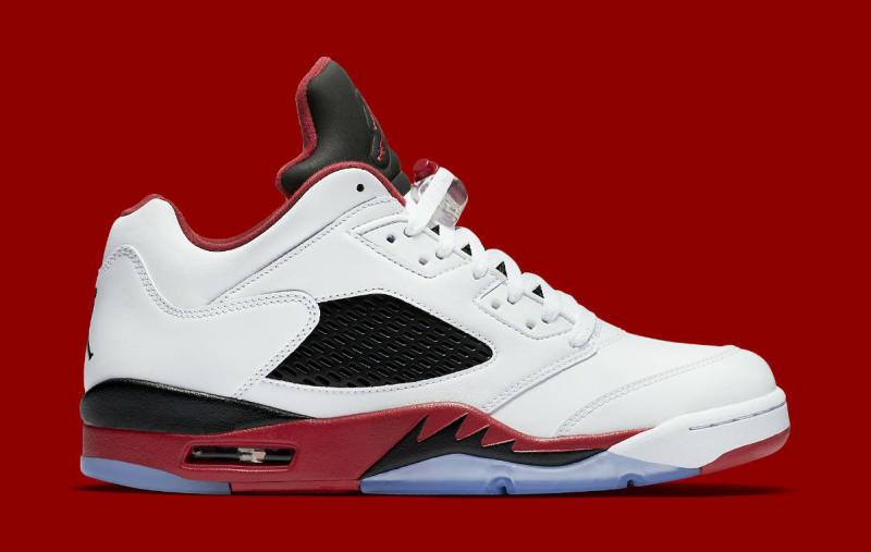 Fire Red Air Jordan 5 Retro Low
