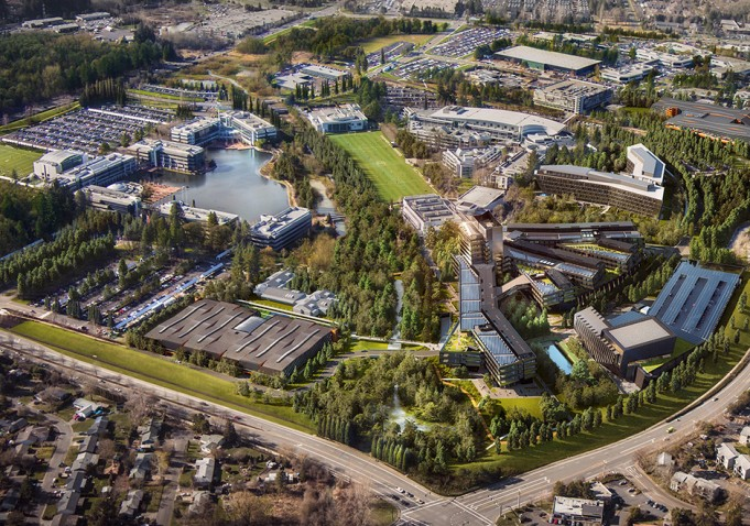 Nike World Headquarters Campus Map