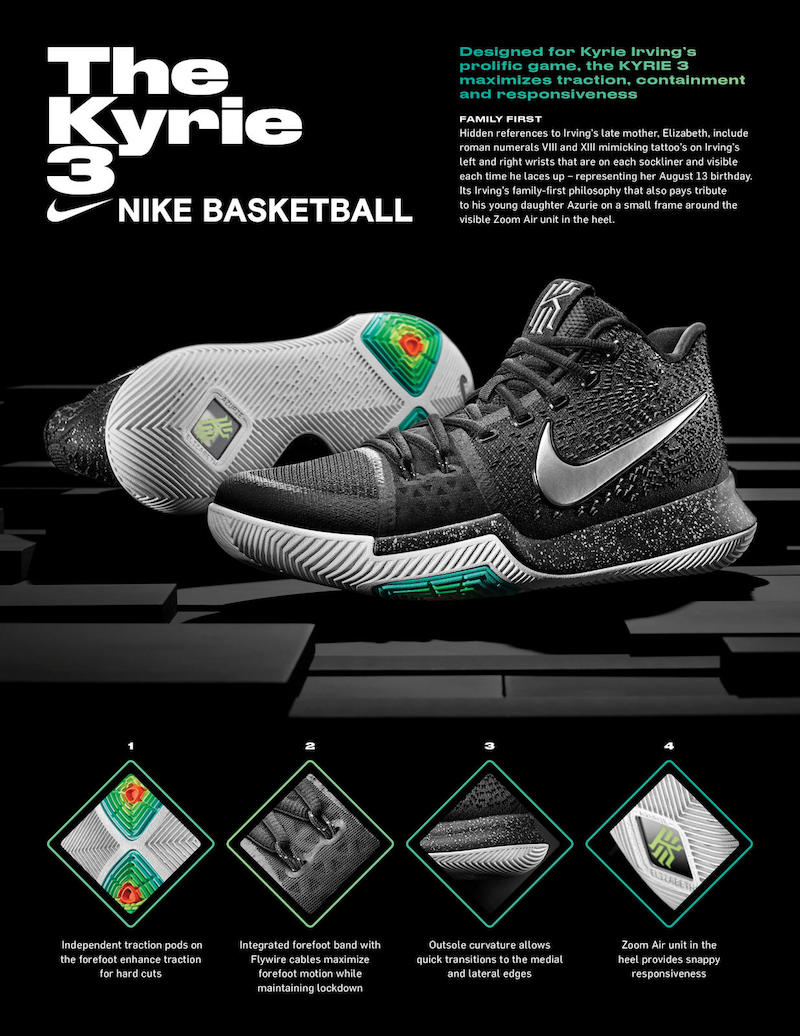 Nike Kyrie 3 Tech Sheet