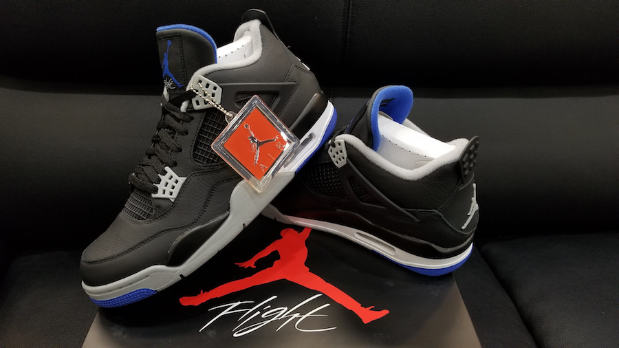 Jordan 4 Alternate Motorsport Feet