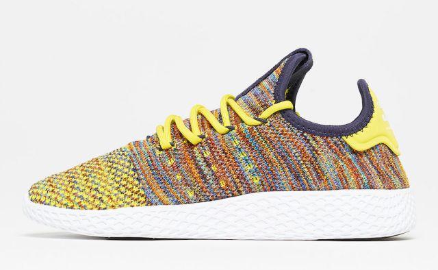 pharrell adidas tennis hu multcolor by2673 1 - Pharrell adidas Tennis Sneakers Drop Next Week In 3 New Colorways