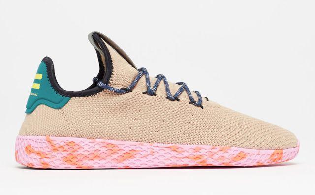 pharrell adidas tennis hu tan by2672 - Pharrell adidas Tennis Sneakers Drop Next Week In 3 New Colorways