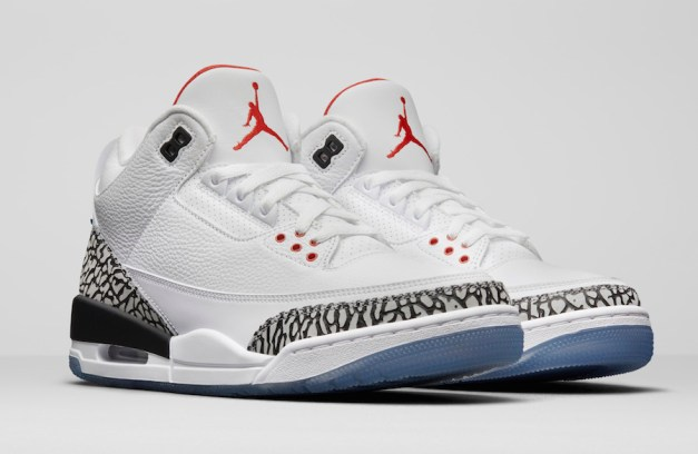 Air Jordan 3 Dunk Contest White Cement All-Star Clear Sole 923096-101 Release Date