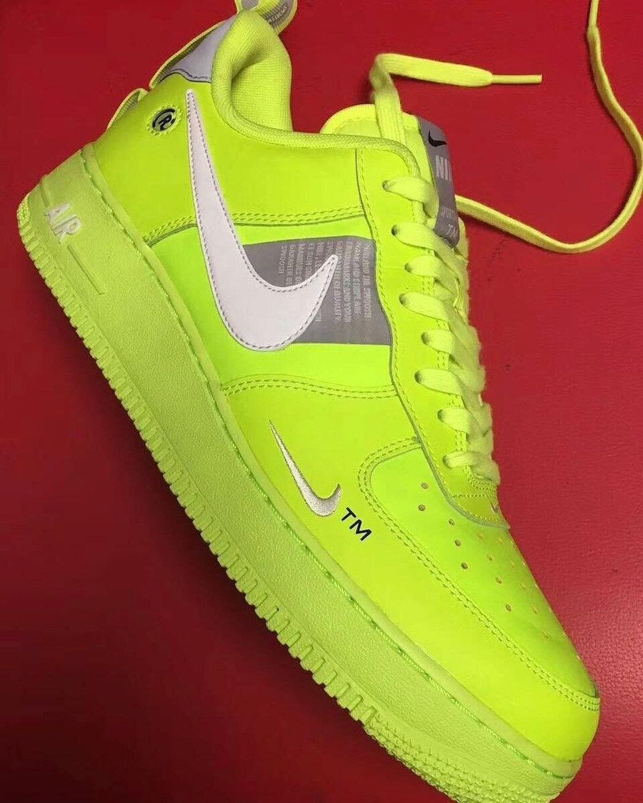 Nike Air Force 1 Low Tennis Ball Neon Volt Sneaker Bar
