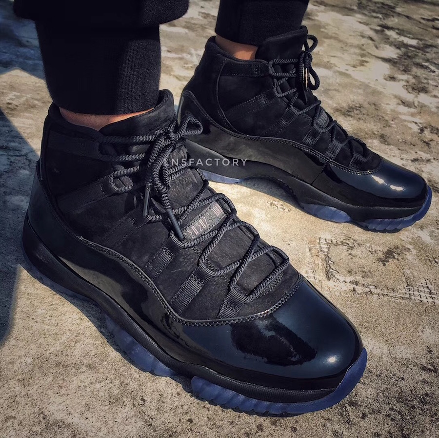 Prom Night Air Jordan 11 Black 378037-005 On-Foot
