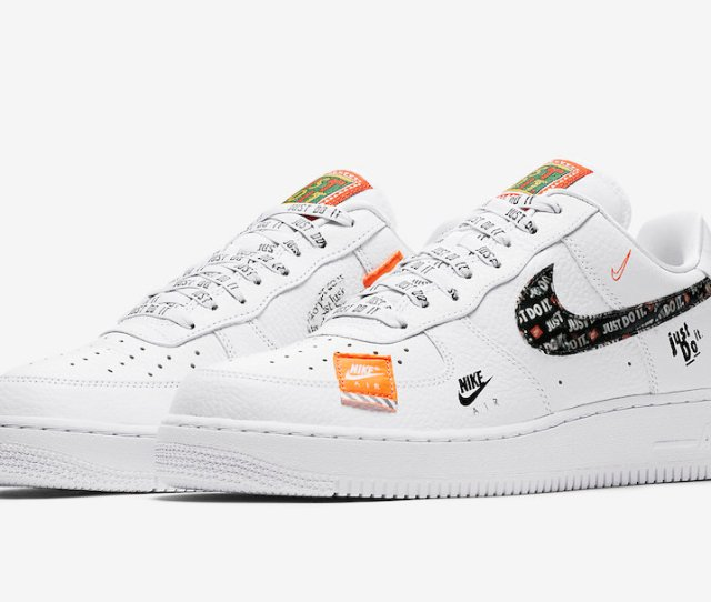 Nike Air Force 1 Just Do It White Ar7719 100 Release Date
