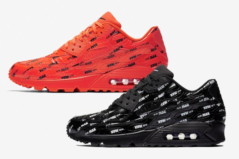 bca9e8f650f3 Nike Air Max 90 Premium Bright Crimson + Black White Release Date